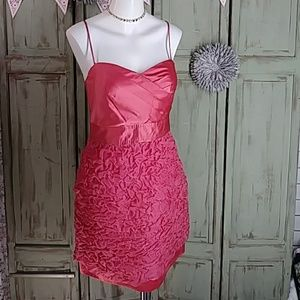Phoebe Couture silk coral dress